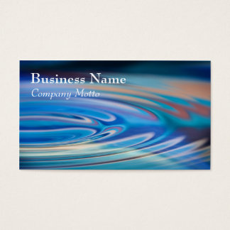 Water Ripples turquoise Generic multicolor Business Card