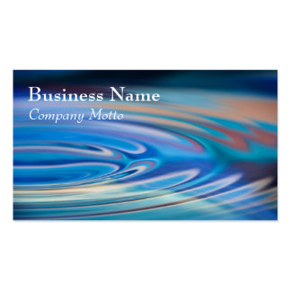 Water Ripples turquoise Generic multicolor Pack Of Standard Business Cards
