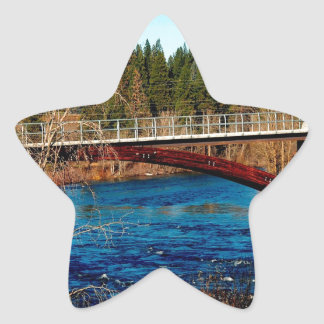 Water River Canada Bridge Star Sticker
