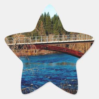 Water River Canada Bridge Star Sticker