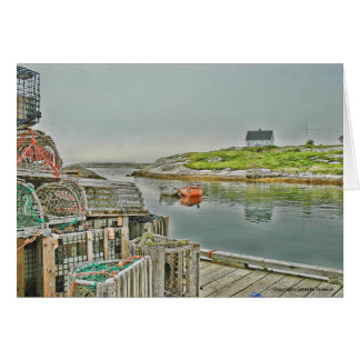 Water Scapes Peggy's Cove Harbour Note Card