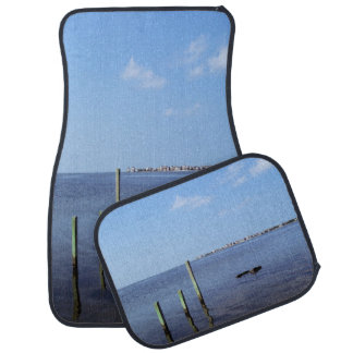 Water Scene - Wooden Post Markers Car Mat