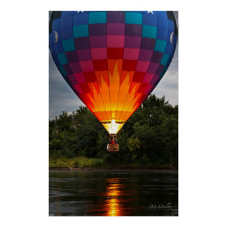 Water Scrapping Hot Air Balloons Poster