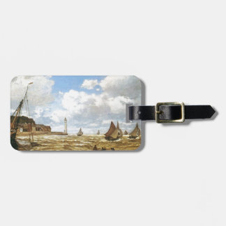 Water Ships Boats Monet Mouth of the Seine 1865 Luggage Tag