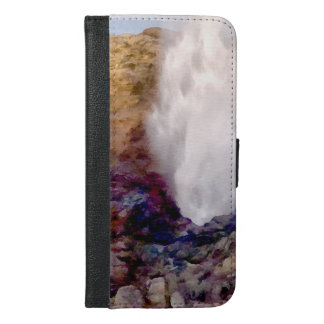 Water shower due to waves iPhone 6/6s plus wallet case