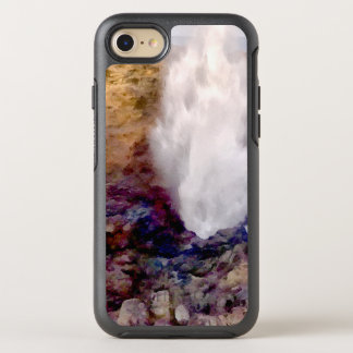Water shower due to waves OtterBox symmetry iPhone 7 case