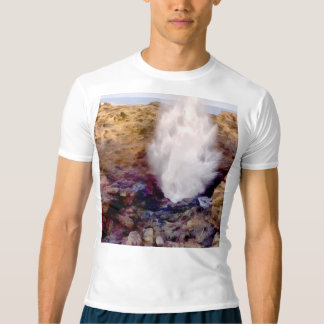 Water shower due to waves t-shirt