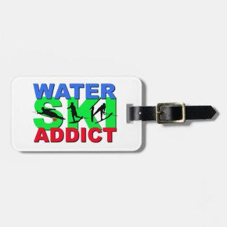 Water Ski Addict Luggage Tag