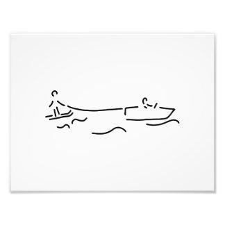 water ski boot waterski photographic print