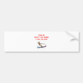 water ski bumper sticker