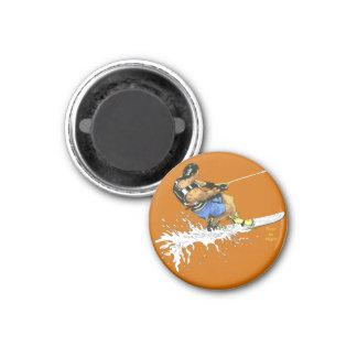 Water Skier -blue Magnet