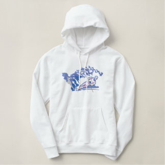 Water-skier Embroidered Hoodie