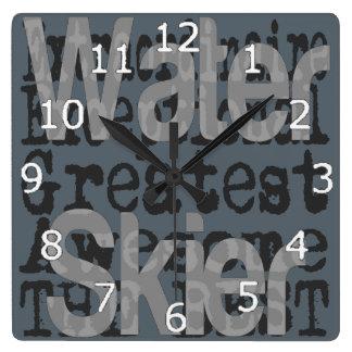 Water Skier Extraordinaire Clocks