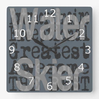 Water Skier Extraordinaire Square Wall Clock