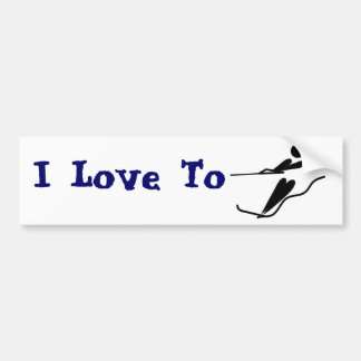 Water Skier - Water Ski Bumper Sticker