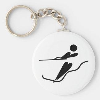 Water Skier - Water Ski Keychain