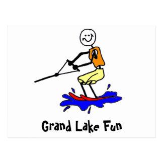 Water Skiing at Grand Lake Postcard