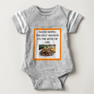 water skiing baby bodysuit