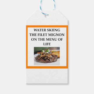 water skiing gift tags