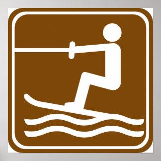 Water Skiing Highway Sign