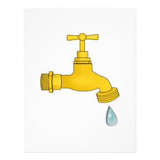 Water Spigot Custom Letterhead