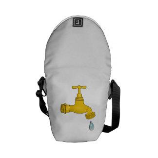 Water Spigot Messenger Bags