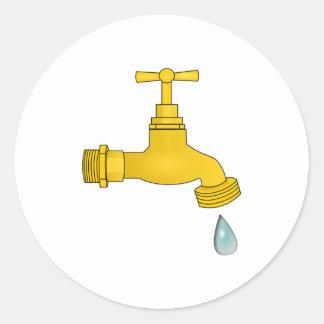 Water Spigot Round Sticker