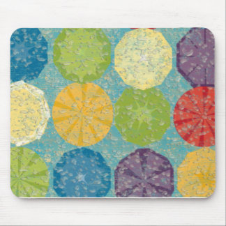 Water splashed colorful fruity summer! mouse pad