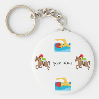 """Water Sport Emoji and '' Your Name Here """" Keychain"""