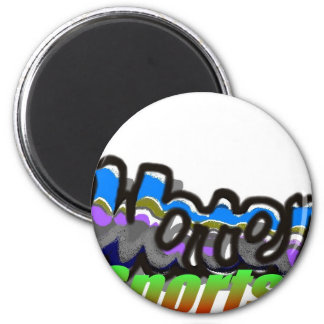 water sports2 2 inch round magnet