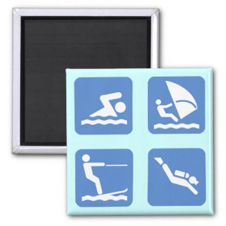 Water Sports Symbols Magnet