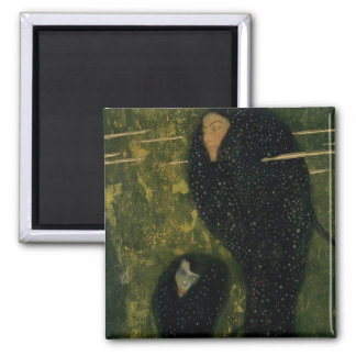 Water Sprites, 1899 (oil on canvas) Square Magnet