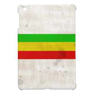 Water Stained Rasta Stripes iPad Mini Cover