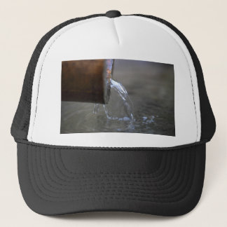 Water stream on  a well trucker hat