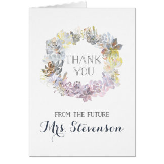 Water Succulents | Bridal Shower Thank You Card