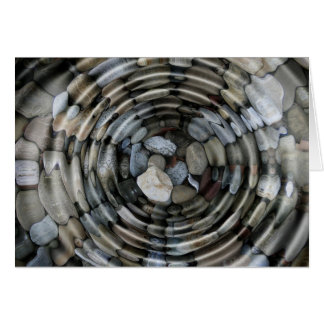 Water Surface Ripples Stones Pebbles Card