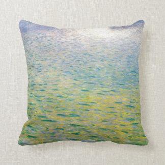 Water symbolism paiting by Gustav Klimt Throw Pillow