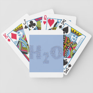 water text bicycle playing cards