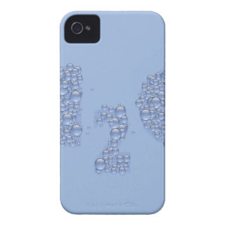 water text iPhone 4 cover