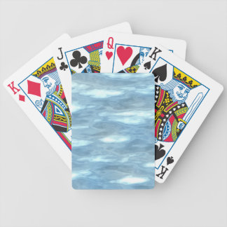 Water texture bicycle playing cards