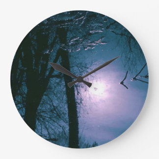 Water Trees Round (Large) Wall Clock