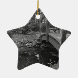 Water under the bridge ceramic star ornament