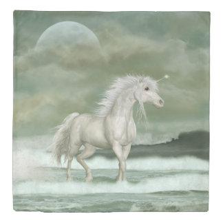 Water Unicorn (1 side) Queen Duvet Cover