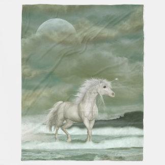 Water Unicorn Large Fleece Blanket