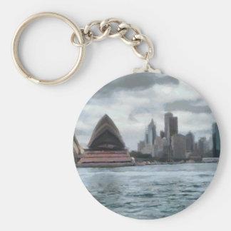 Water view of Sydney Basic Round Button Keychain