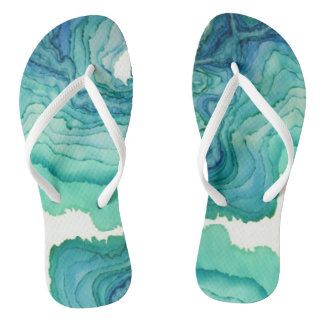 Water Waves Flip Flops