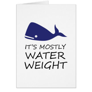 Water Weight Card