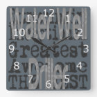 Water Well Driller Extraordinaire Square Wall Clock
