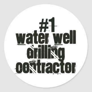 Water Well Drilling Contractor Round Sticker