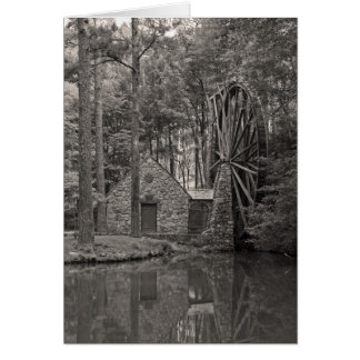 Water wheel b/w card